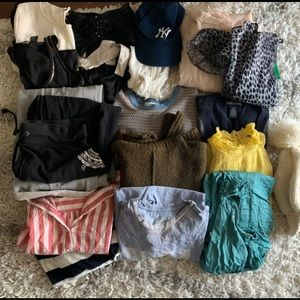 Bundle of womens clothing & accessories DIY NEEDED